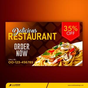 Restaurant Banner Template Premium Vector