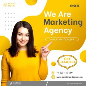 Business Marketing Social Media Post Template Premium Vector