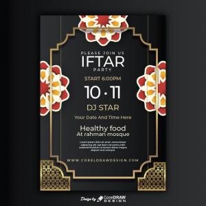 Ramadan Iftar Menu Invitation Download Ai & Eps Coreldraw Free Template