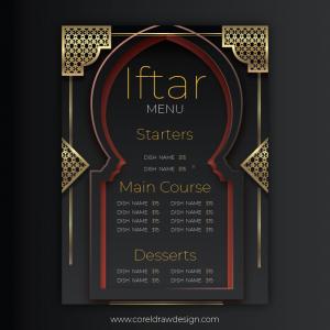 Ramadan Iftar Invitation Download Ai & Eps Coreldraw Free Template