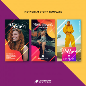 Colorful Gradient Instagram Story Template