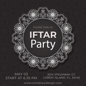 Please Join Us Iftar Party Invitation Coreldrawdesign AI & Eps Trending 2021 Download Free
