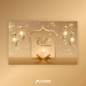 Luxury Eid Mubarak Creative Wishes Card Template
