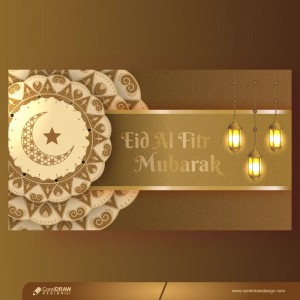 Eid Al Fitr Islamic 3d Design Concept Premium Vector