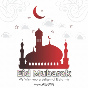 Simple Eid al fitr free vector greeting download free from coreldrawdesign