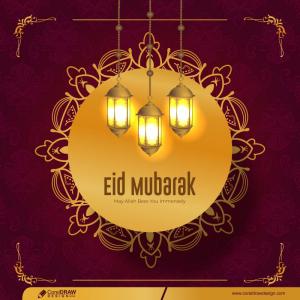 Realistic Eid Al-fitr Illustration Premium Vector