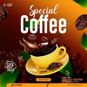 Coffee Drink Menu Social Media Post Banner Template Free Design