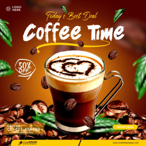 Coffee Concept Banner Template Free Design