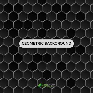 Abstract Black Geometric Hexagonal  Background