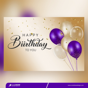 Birthday Background With Realistic Balloons Premium Vector
