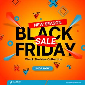 Modern Black Friday Super Sale Banner Free Vector
