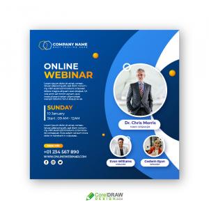 Professional Corporate Live Online Webinar Poster Banner Template
