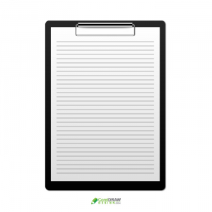 Abstract Corporate Professional Clipboard Memo