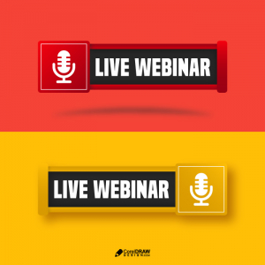 Creative Live Webinar Show Icon with microphone