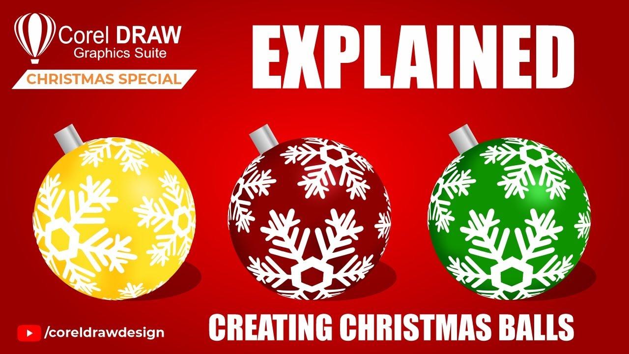 Coreldraw Christmas Ball Easily Explained (Mesh+Fish Eye) Coreldraw for Beginners