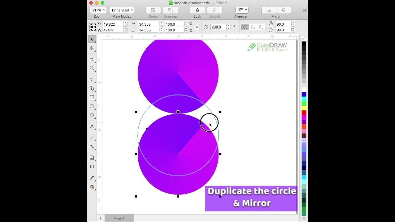 Fastest Way to Make a Smooth Gradient Design in CorelDraw | 1 min. tutorial