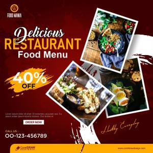 Food Menu Banner Instagram Or Other Social Media Post Template Design