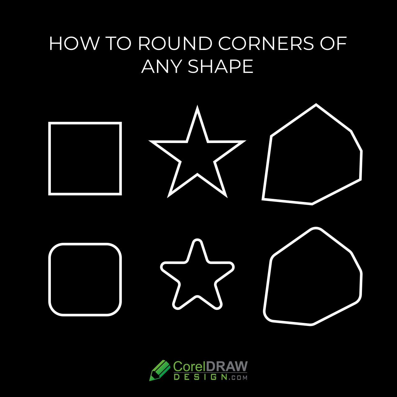 How to round corners of any shape in CorelDraw | 1 min Tutorials