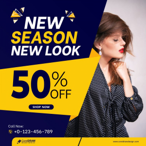 New Look Fashion Sale Social Media Post Templates Free Vector