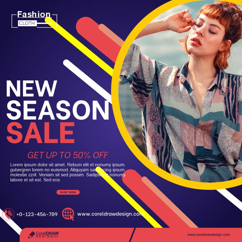Womens Fashion Sale Social Media Template Premium Vector