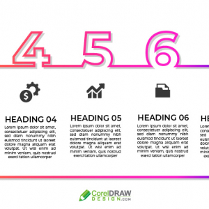 Trendy Coloful Number Infographic
