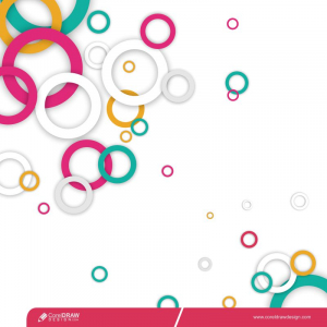 Abstract Colorful Geometric Composition Multicolored Circle Background