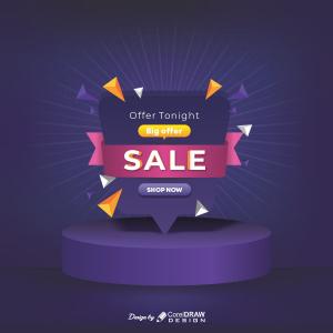 Offer Tonight Big Sale Shop Now Download From Coreldrawdesign Trending 2021