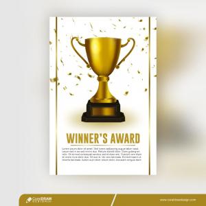 Winner Award Champion Trophy Template Free Vector