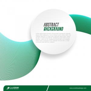 Abstract Green Wave Round Frame Backgraund Premium Vector