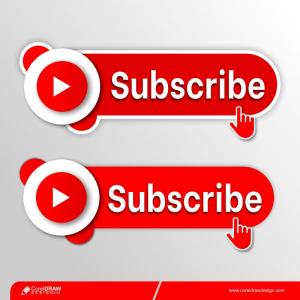 Youtube Subscribe Button Free Premium Vector
