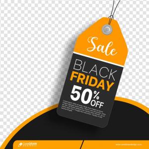 Black Friday Sale Price Tag Template Premium Vector