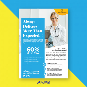 Abstract Medical Advertisement Promotional Flyer