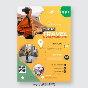 Time To Travel Flyer Template Free Download From Coreldrawdesign