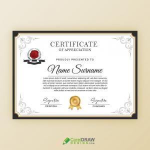 Elegant Professional Certificate Of Appreciation