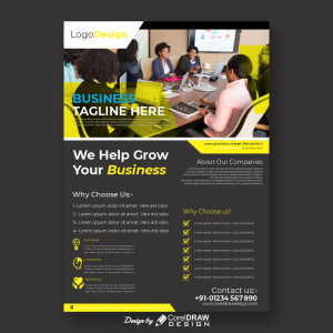 Helping Your Business Free Flyer Template Download From coreldrawdesign