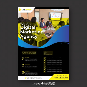We Are Digital Marketing Agency Free Template Download From coreldrawdesign