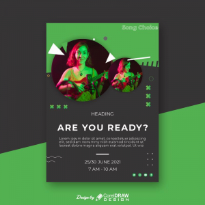 Spotify Themed Flyer Poster Download From Coreldrawdesign Free Template