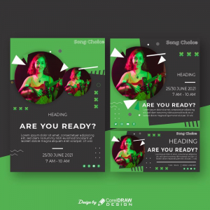 Spotify Themed Collection Poster Flyer Banner Download From Coreldrawdesign Free Template