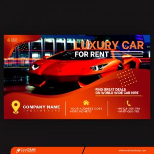 Luxury Car Social Media And Facebook Cover Post Template Premium Vector