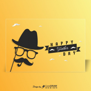 Happy Father Day Landscape Card Wish Download Free Cdr From Coreldrawdesign