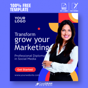 Social Media Banner for Business & Institutes, Free CDR Template