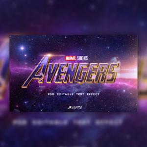 Marvel Studios Avengers Text effect