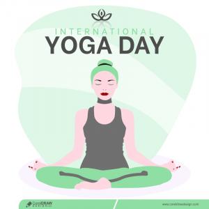 International Yoga Day Concept Illustration Free Vector