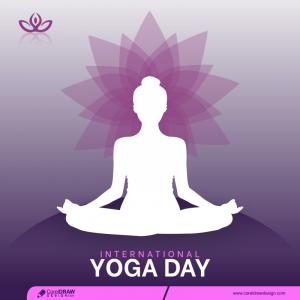 International Yoga Day Banner Free Vector