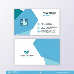 Modern Polygonal Business Card Free Vector