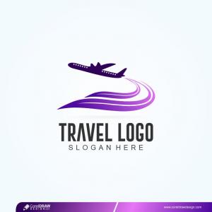 Travel Logo Design Premium Vector