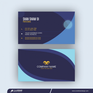 Minimal Modern Business Card Design Featuring Geometric Elements Free Vector