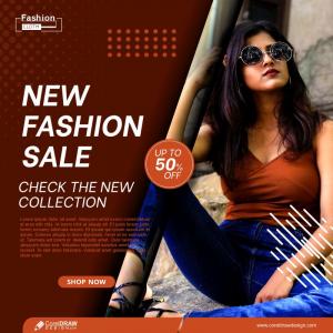 Fashion Sale Social Media Post Templates Free Vector Design