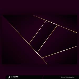 Luxurious Dark Purple Overlap Background With Golden Lines Elegant Modern Futuristic Background Premium Vector