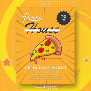 Pizza House Delicious Food Free Template Download From Coreldrawdesign